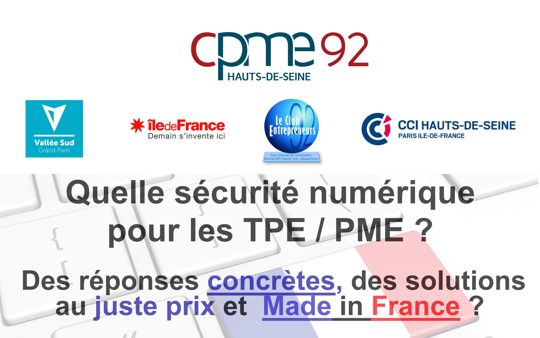 Quelle Sécurité Numérique Pour Les TPE/PME – 11 Décembre 2018